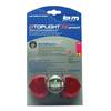 Busch + Müller D-Toplight XS permanent Batterie-Rücklicht schwarz/rot